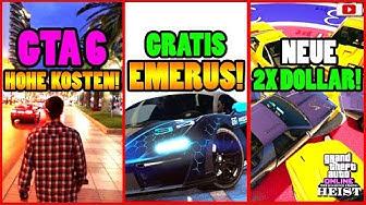 🙌Alle Neuen Inhalte!🙌 GTA 6 Kosten! EMERUS GRATIS! 2X DOLLAR + Mehr! [GTA 5 Online Casino Heist DLC]