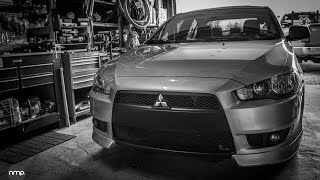 Painting Mitsubishi Lancer Bumper | How to make Lancer look like an EVO X