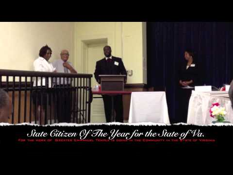 State Citizen of the year for the state of Virginia.