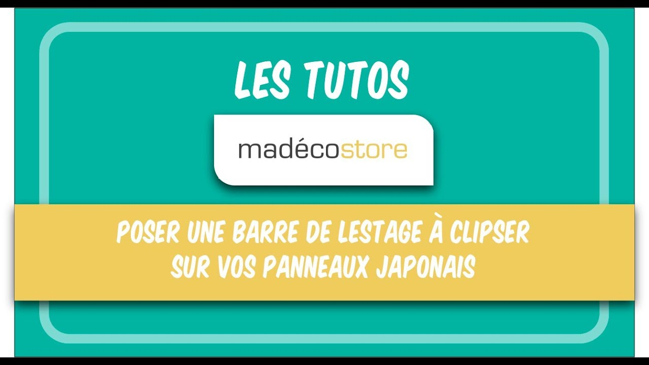 poser une barre de lestage clipser sur vos panneaux japonais en 2 tapes youtube. Black Bedroom Furniture Sets. Home Design Ideas