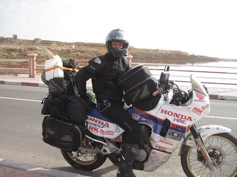 [Slow TV] Motorcycle Ride - Morocco - Western Sahara - Laayoune