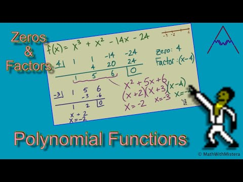 Finding Zeros and Factors of Polynomial Functions - YouTube