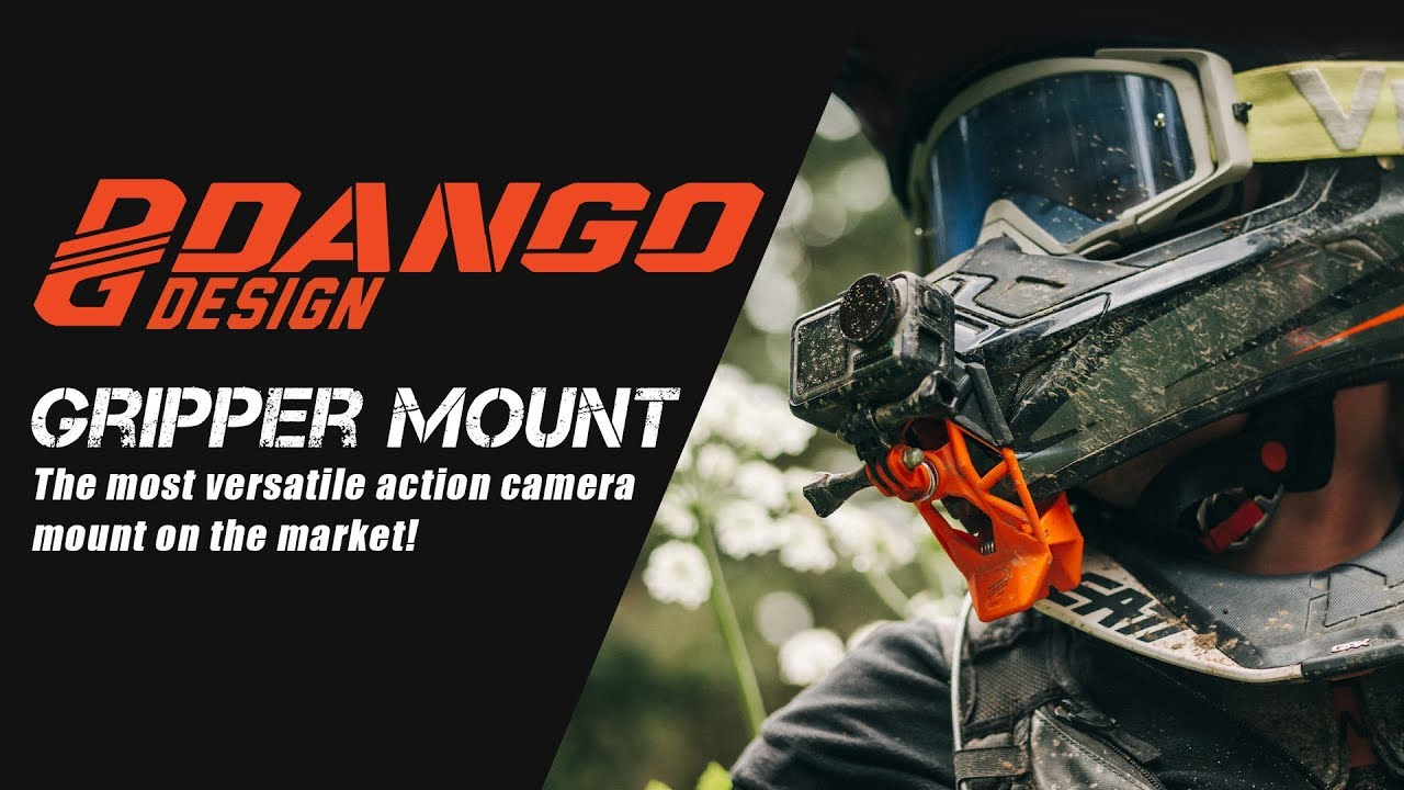 Dango Design Gripper Mount Ripper Red Use as a Mount on Motorcycles Universal Clamp Mount for Action Cameras Powersports Helmets /& More