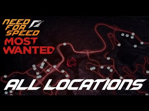 Most Wanted 2012 - All Locations (Speed Cameras, Billboards And Jack Spots) 100% Complete