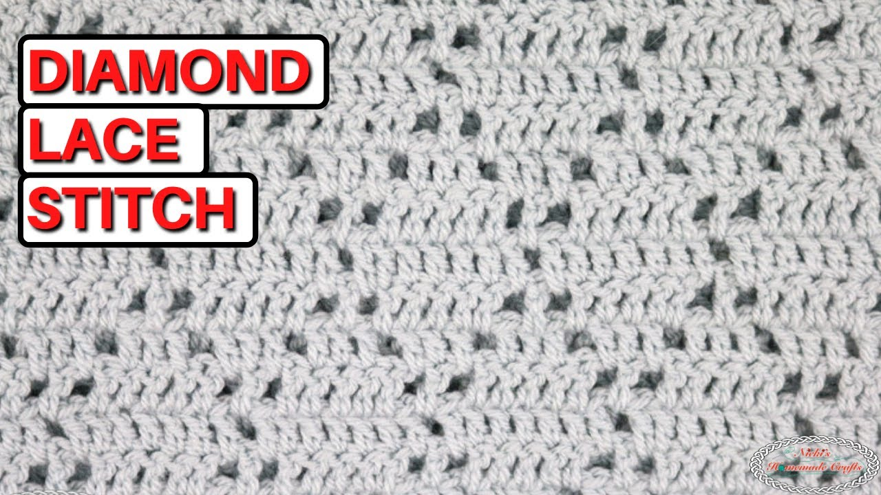 How To Crochet The Diamond Lace Stitch Youtube,Saltwater Fish List