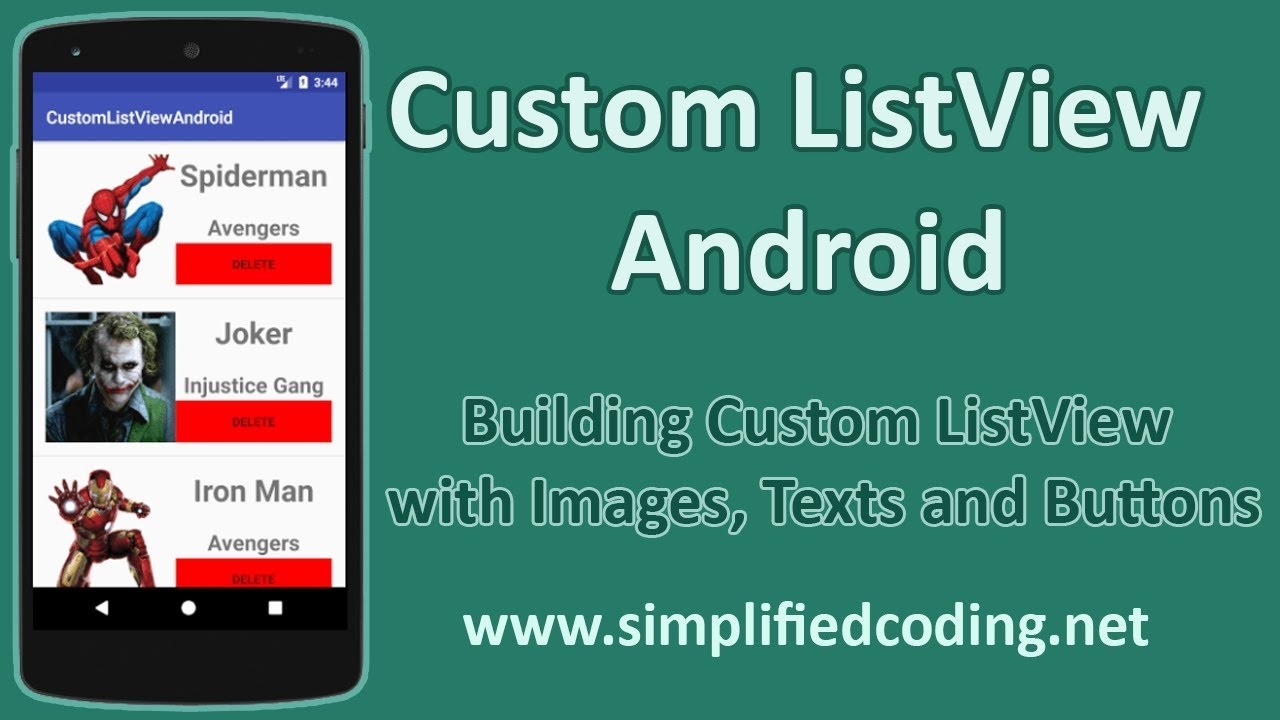 Custom ListView Android – Building Custom ListView with Images