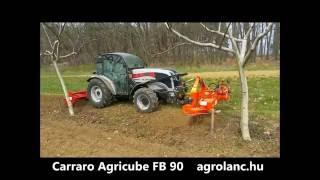 Carraro Agricube FB90 alacsony kialakítású ültetvény traktor a dióültetvényben