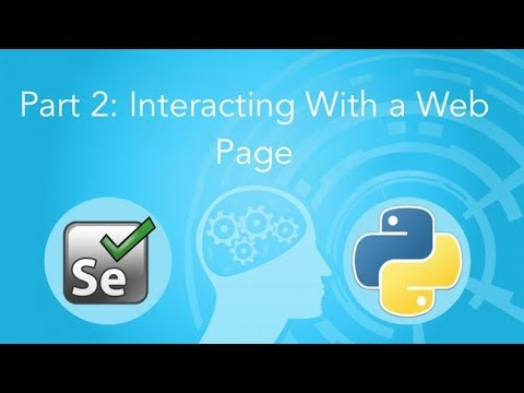 Interacting With a Web Page: Selenium and Python 2