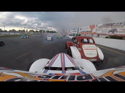 Ontario Legends Feature #1 Sunset Speedway August 11 2018 Matt Haufe #44