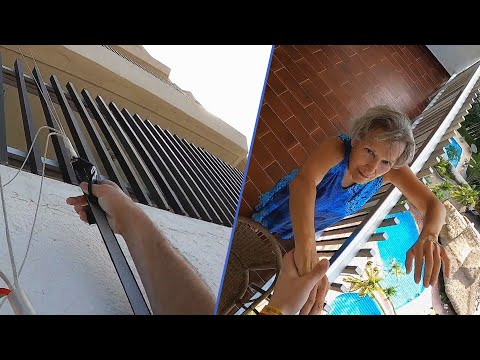 Carmine - Cute Old Lady Saves Base Jumper Dangling From Her Balcony