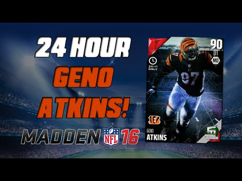 24 Hour Hero Geno Atkins! | Madden 16 Ultimate Team - Football Outsiders Pack Opening