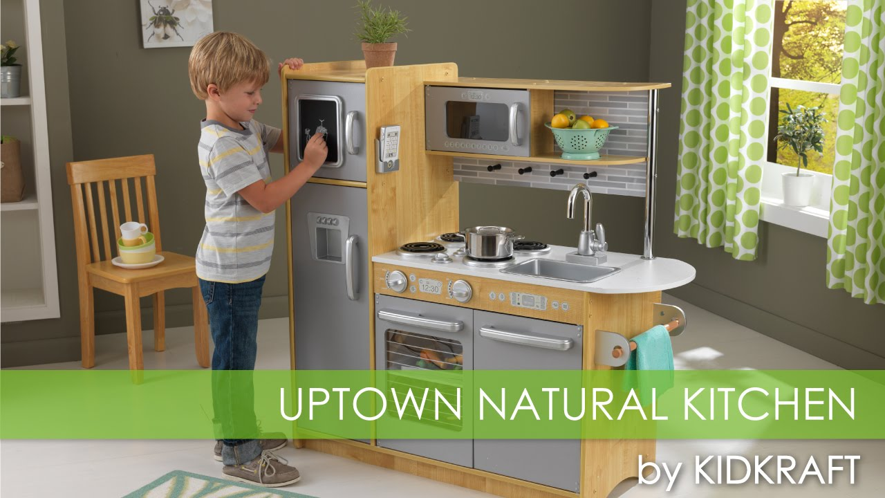childrens play kitchens comfort kitchen mats children s uptown natural toy review youtube