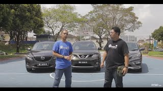 Honda CR-V vs Nissan X-Trail vs Mazda CX-5  - Roda Pusing Review
