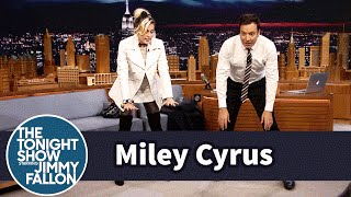 Miley Cyrus Gives Jimmy an Ashtanga Yoga Lesson