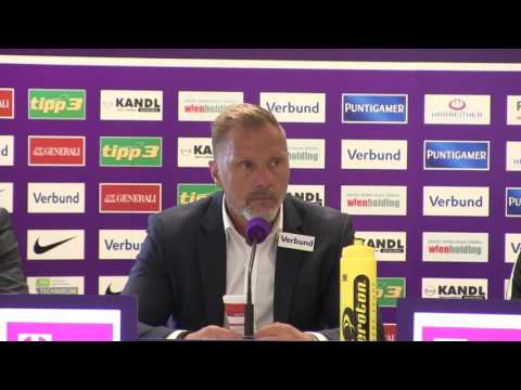 Pressekonferenz nach Austria Wien vs. Red Bull Salzburg