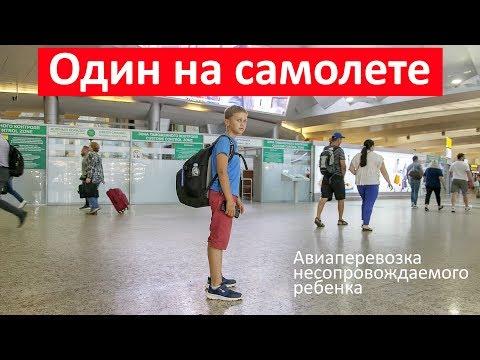 Как отправить ребенка одного на самолете за границу