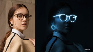 Glow in the Dark Portrait Effect Photoshop Tutorial
