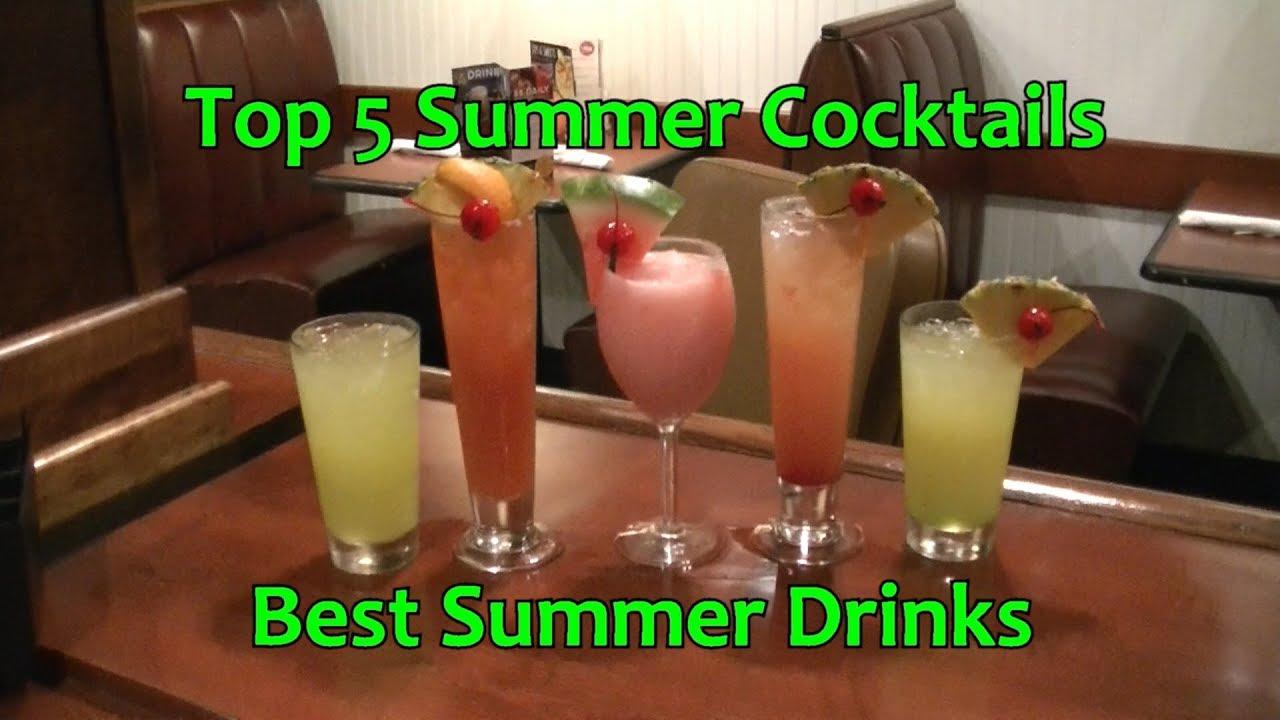 Top 5 Summer Cocktails Best Summer Drinks Youtube