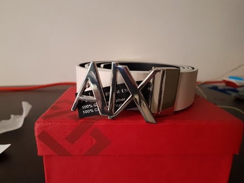 Armani Exchange Belt For Men- Unboxing And Review