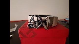 Armani Exchange Belt for men- unboxing and review YouTube Videos