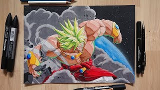 Drawing - BROLY ENTERS |FighterZ Reveal| -  Dragon ball Art