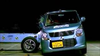 Crash Test 2012 - Suzuki Wagon R / Mazda Flair ( Side Impact) Jncap