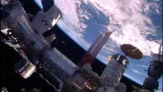 ISS - Space X Dragon CRS-8 berthing docking and installation with BEAM full coverage