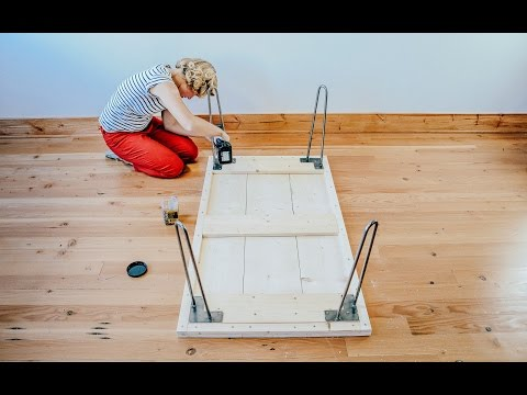 How to Make DIY Hairpin Leg Coffee Table