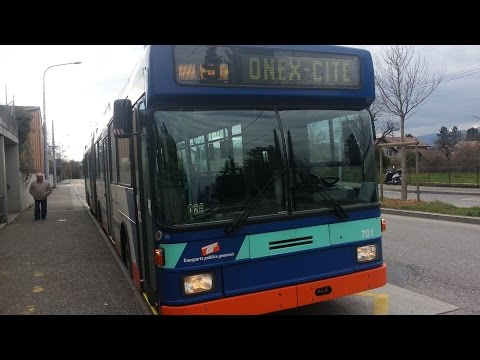 TPG Genève : Ligne 19 avec le véhicule 701