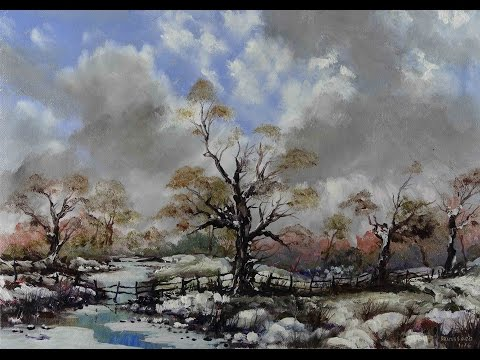 First Snow -Time Lapse Painting