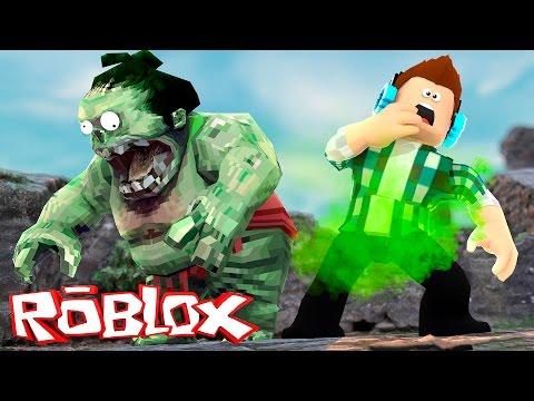 Roblox - O ZUMBI QUE SOLTA PUM !!