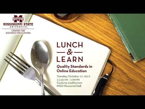 Lunch and Learn: Quality Standards in Online Education