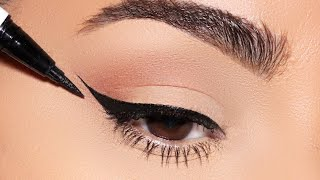 How to: PERFECT WIΝGED EYELINER every single time!! (Simple Beginner Friendly Technique)