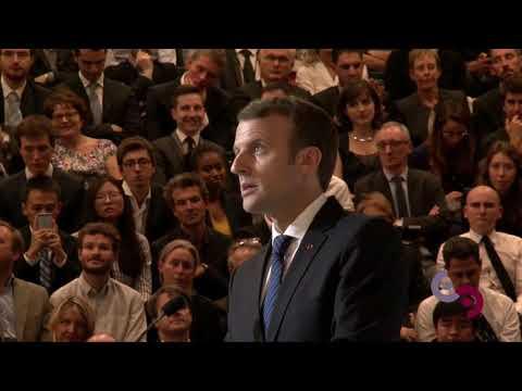 Visite d'Emmanuel Macron à CentraleSupélec le 25 octobre 2017