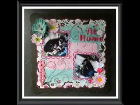 Fabuleux Baby album scrapbook decoration ideas - YouTube GH83