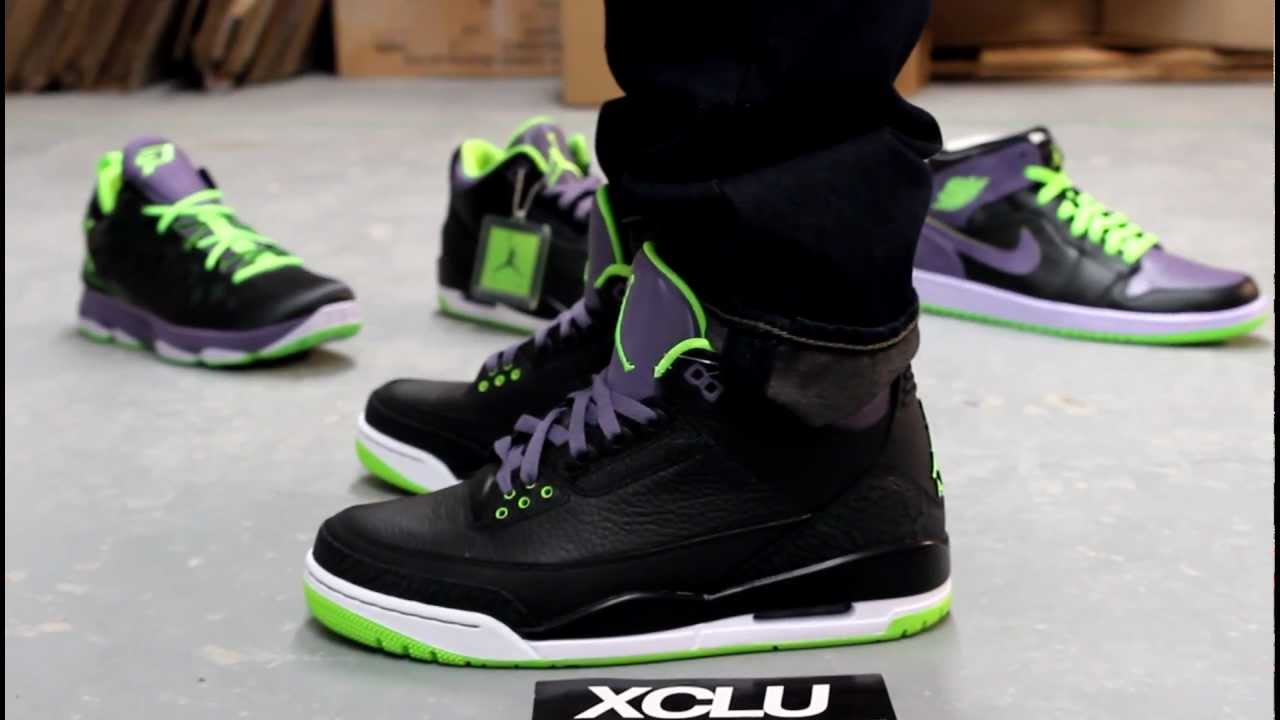 Joker images collection 46 - Air Jordan 3 Retro All Star Night Vision Joker Collection On Feet At Exclucity Youtube