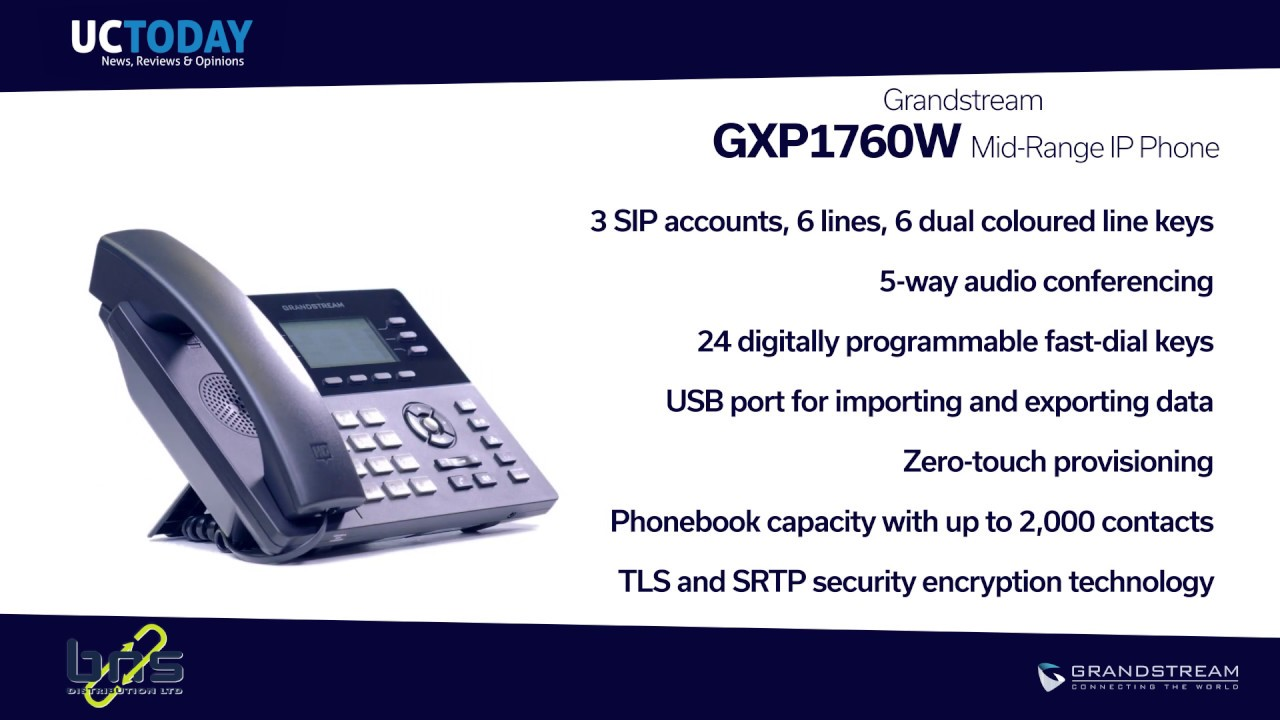 Grandstream GXP1760W HD IP Phone Review - UC Today