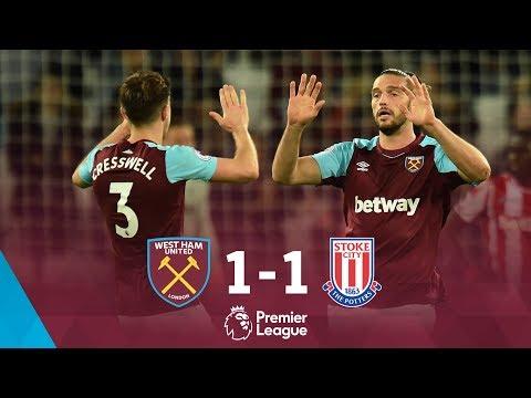 Premier league: west ham united 1-1 stoke city