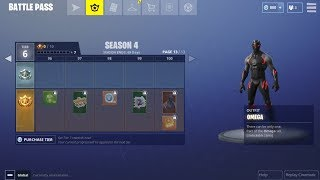 Fortnite Season 4 All Tier Rewards (Outfits, skins, items) - 1000 Free Vbucks Giveaway