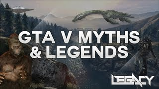 GTA V - Myths, Legends, & Secret Easter Eggs - BigFoot, Loch Ness Monster, UFOs, Aliens & Zombies