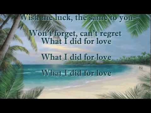 What I Did For Love ~ Johnny Mathis (HD)