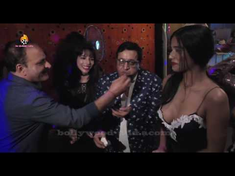 Poonam Pandey Page 3 Party Celebration - EXCLUSIVE Black Dress On Bollywood Adda