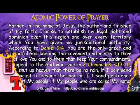 Atomic Power Of Prayer by Cindy Trimm (with text)
