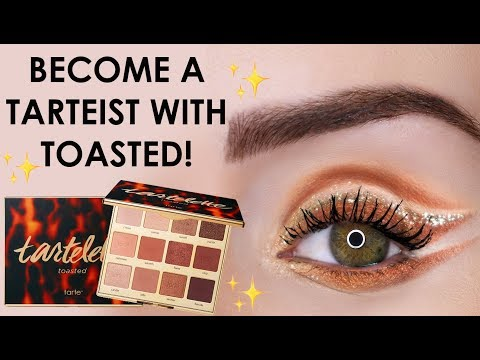 artistic eye look using tartelette toasted with Jen | tarte talk