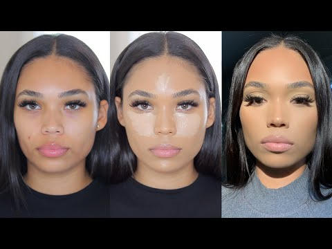 HOW TO CONTOUR & GET FLAWLESS SKIN WITH ACNE   MATTE MAKEUP ON DRY SKIN   Briana Monique'