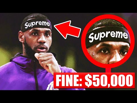 7 Accessories BANNED In The NBA This Season - LeBron James | Kyrie Irving | Kobe Bryant thumbnail
