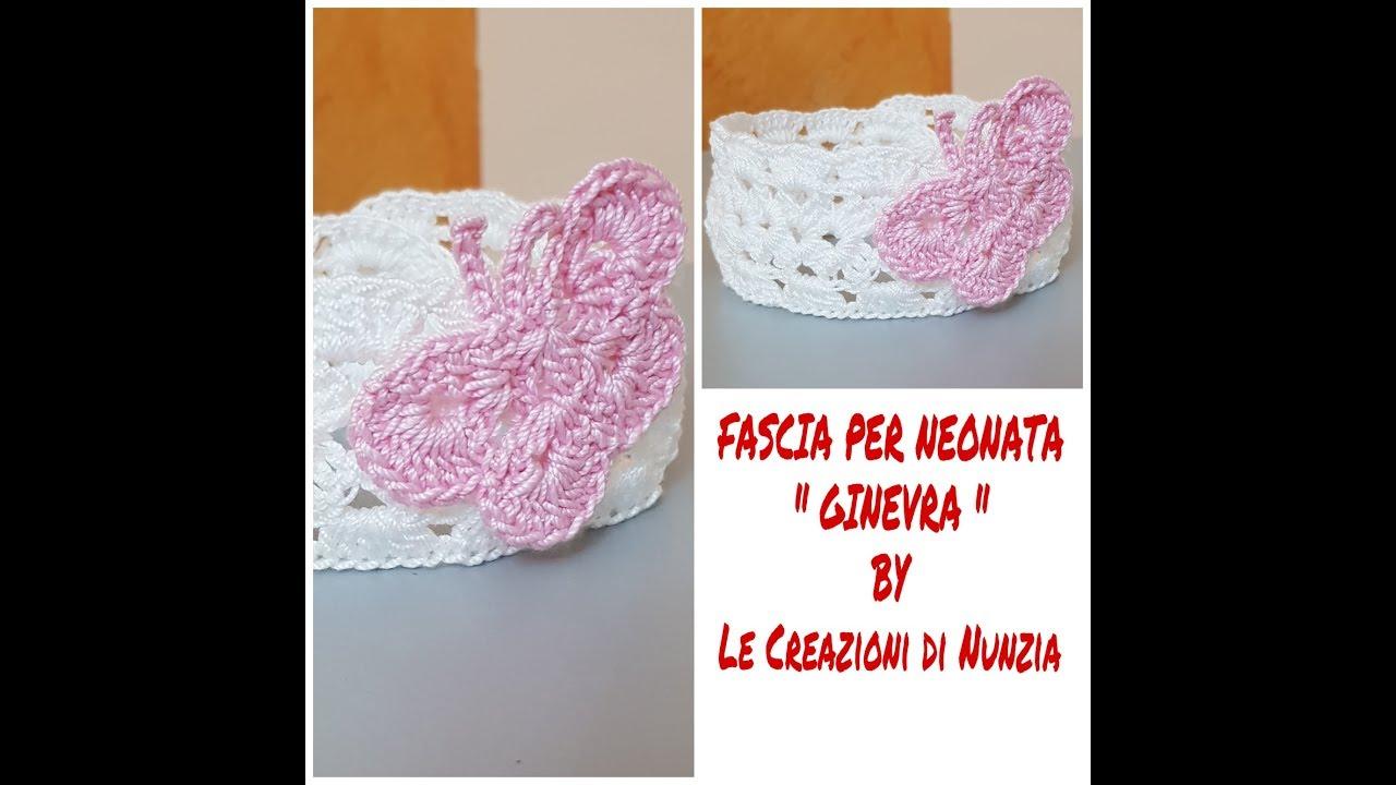Fascia Per Neonata Ginevra A Uncinetto Youtube