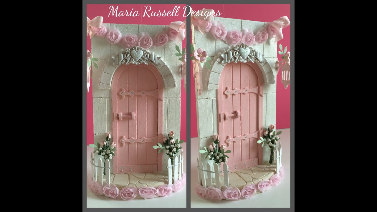 Magical fairy door a shabby chic christmas project youtube for Idea behind fairy doors