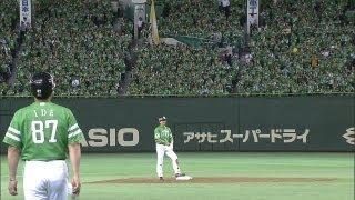 激励、効果てき面?緑一色の中で松田が先制打 2012.07.02 H-L