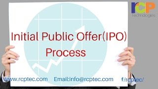 Initial Public Offer (IPO) Process is Explained